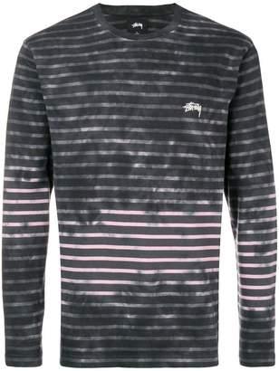 Stussy striped sweatshirt
