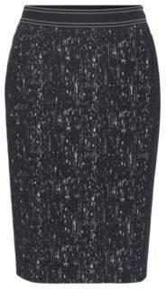 HUGO BOSS Patterned Plisse Pencil Skirt Veleara 0 Patterned