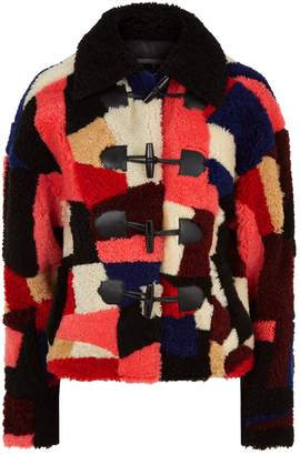 McQ Patchwork Shearling Jacket