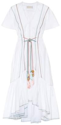 Peter Pilotto Tasseled cotton dress