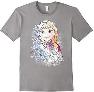 Disney Frozen Anna Illustrated Snowflake Flowers T-Shirt