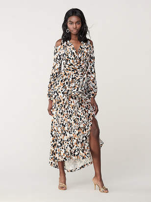 Diane von Furstenberg Lyra Silk Maxi Wrap Dress