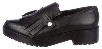 Tibi Leather Platform Loafers