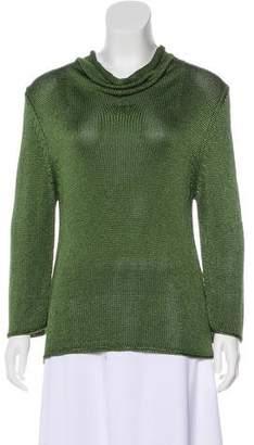 Max Mara Knit Mock Neck Sweater