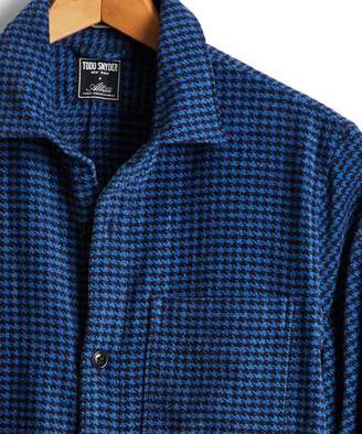 Todd Snyder Houndstooth Shirt Jacket in Navy
