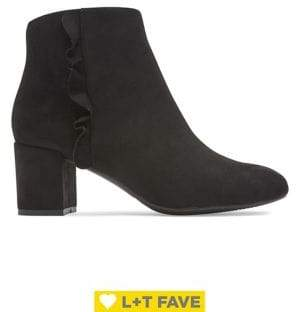 Rockport Total Motion Oaklee Ruffle Suede Booties