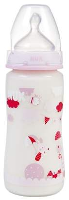 NUK First Choice 710407 Feeding Bottle 300 ml with Suction Teat Size 1 / M (Age 0 to 6 Months) Pink