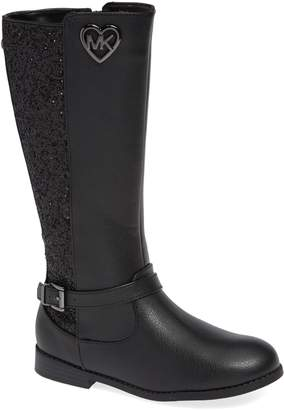 MICHAEL Michael Kors Emma Quinn Faux Leather Glitter Riding Boot