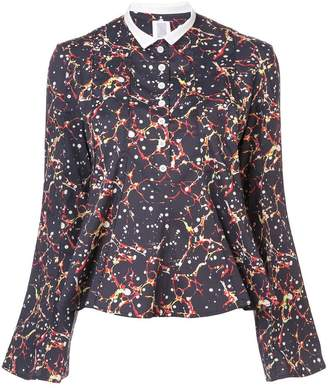 Rosie Assoulin printed collar shirt