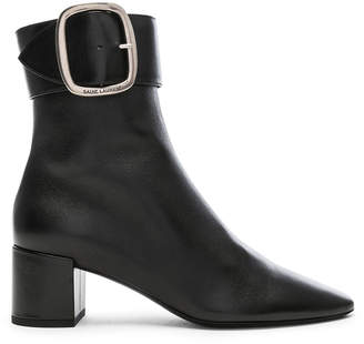 Saint Laurent Leather Joplin Buckle Ankle Boots