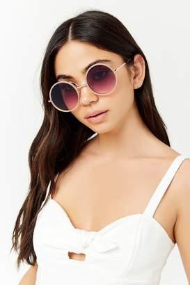 Forever 21 Metallic Round Sunglasses