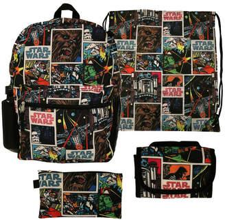 Star Wars LICENSED PROPERTIES Starwars 5PC Backpack Set- Boys