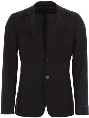Prada Jacket With Embroidered Logo