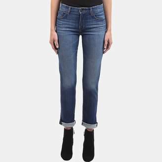J Brand Amelia Mid-Rise Straight Jean in Decoy