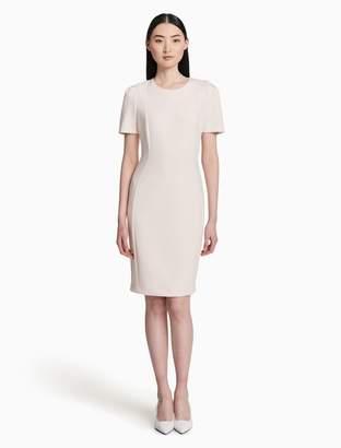 Calvin Klein scuba short sleeve sheath dress