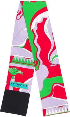 Emilio Pucci La Villa Print Silk-Twill Scarf