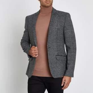 River Island Grey check skinny blazer