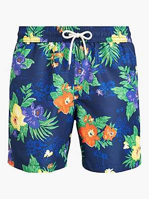 de702ccc0b Ralph Lauren Polo Tropical Flower Swim Shorts, Blue