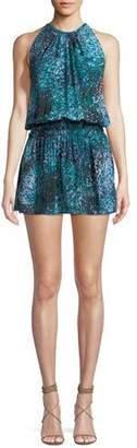 Ramy Brook Paris Sleeveless Printed Silk Mini Dress