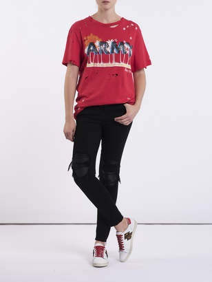 Amiri Mx1 classic leather patch jeans