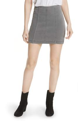 Free People Modern Femme Denim Miniskirt