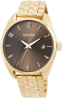 Nixon 38mm Bullet Bracelet Watch, Taupe
