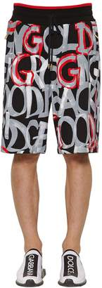 Dolce & Gabbana Graphic Printed Cotton Jersey Shorts