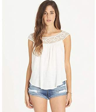 Billabong Women's Get Together Crochet Detail Knit Top