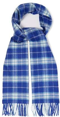 Burberry Vintage Check Cashmere Scarf - Mens - Blue