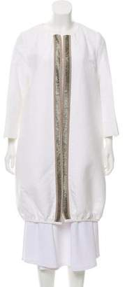 Laviniaturra Knee-Length Open Front Jacket