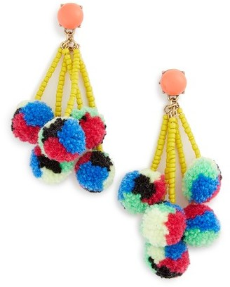 Women's Baublebar Caicos Pompom Drop Earrings $34 thestylecure.com