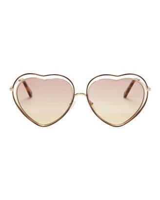 Chloé Poppy Heart-Shaped Sunglasses