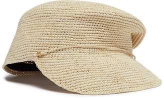 Sensi Studio Crochet toquilla palm straw cap