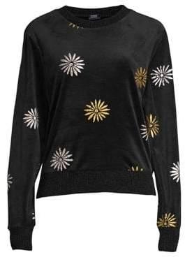 Splendid Daisy Velvet Crewneck Sweater