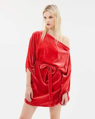 Polaroid Girl Velvet Mini Dress