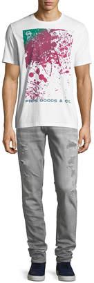 PRPS Distressed Skinny Jeans with Rip/Repair Detail