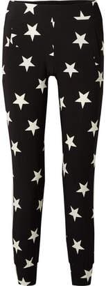 Norma Kamali Printed Stretch-jersey Track Pants - Black