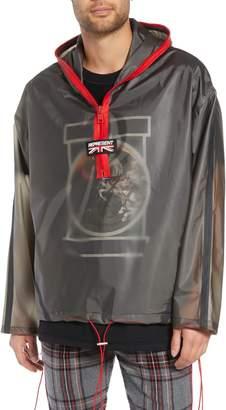 REPRESENT Rubber Half Zip Rain Jacket
