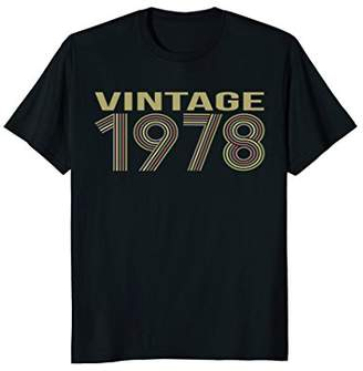 Funny Vintage T-shirt 1978 40th Years Old 40 Birthday Gift