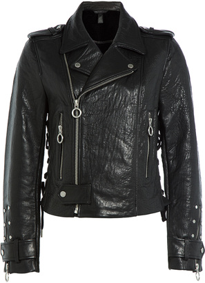 Marc by Marc Jacobs Leather Biker Jacket $1,598 thestylecure.com