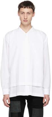 Issey Miyake White Crush Shirt