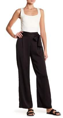 June & Hudson Wide Leg Tie Accent Pants