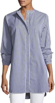 Joseph Carla Candy Striped Button-Front Tunic