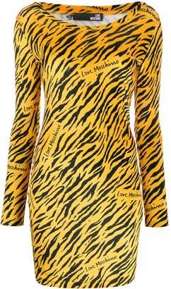 Love Moschino tiger-print mini dress