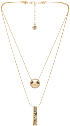 House of Harlow Scutum Double Pendant Necklace $68 thestylecure.com