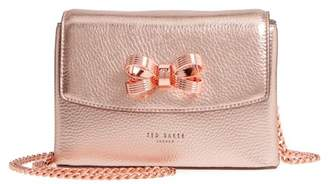 Ted Baker Lupiin Metallic Leather Crossbody Bag