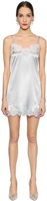 Dolce & Gabbana Silk Satin & Lace Slip Dress
