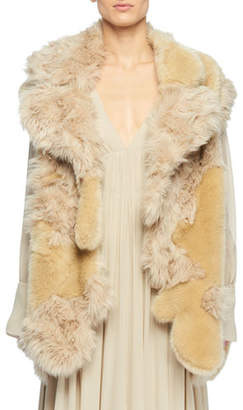Stella McCartney Faux-Fur Patchwork Vest