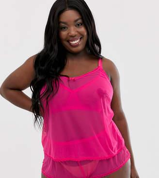 b1d4bffe26f03 Savage X Fenty Savage x Fenty Plus Size sheer mesh cami top in pink