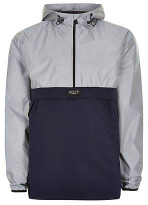 Topman Mens NICCE Silver And Navy 'Void' Cagoule